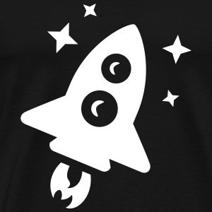 Space Rocket T-Shirts - Men's Premium T-Shirt