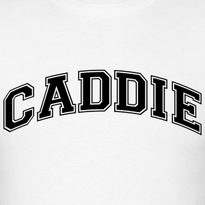 caddie college style curved logo t-shirt - Men's T-Shirt