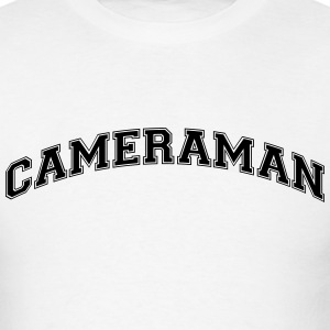 cameraman college style curved logo t-shirt - Men's T-Shirt
