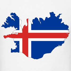 Iceland Flag Map.png T-Shirts - Men's T-Shirt