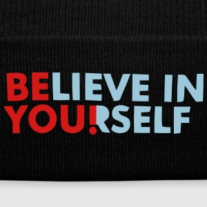 BELIEVE IN YOURSELF! Caps - Knit Cap with Cuff Print