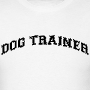 dog trainer college style curved logo t-shirt - Men's T-Shirt