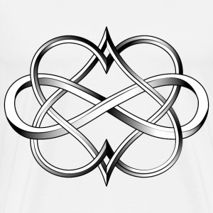 Double Heart Infinity Tattoo - Men's Premium T-Shirt