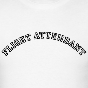 flight attendant curved college style lo t-shirt - Men's T-Shirt