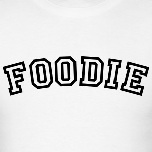 foodie curved college style logo t-shirt - Men's T-Shirt