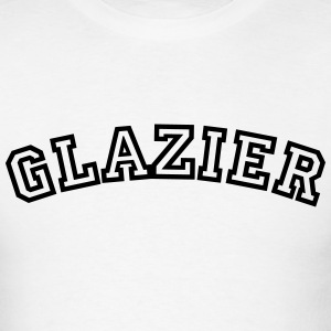 glazier curved college style logo t-shirt - Men's T-Shirt