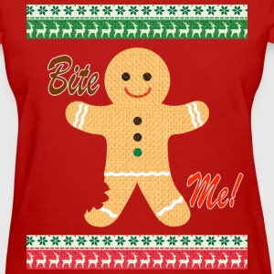 Ugly Christmas Sweater Funny T shirt - Bite Me Shi - Women's T-Shirt