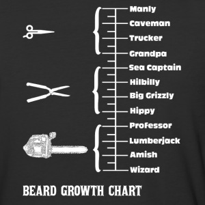 Beard Growth Chart  T-Shirts - Baseball T-Shirt