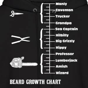 Beard Growth Chart  Hoodies - Men's Hoodie