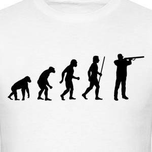 Evolution of Shooting - Men's T-Shirt