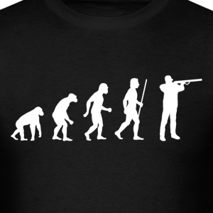 Evolution of Man Shotgun - Men's T-Shirt