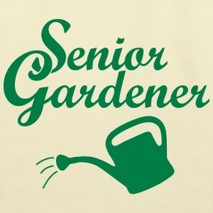 Senior Gardener with Watering Can Bags & backpacks - Eco-Friendly Cotton Tote
