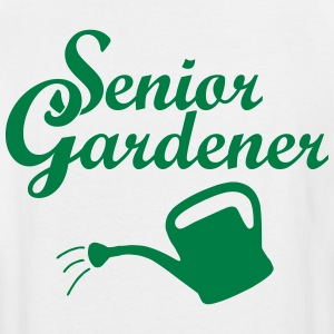 Senior Gardener with Watering Can T-Shirts - Men's Tall T-Shirt