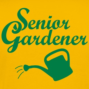 Senior Gardener with Watering Can T-Shirts - Men's Premium T-Shirt