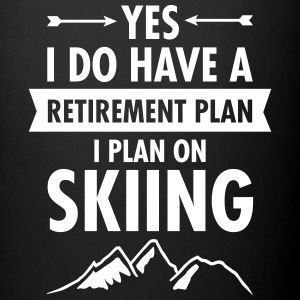 Yes I Do Have A Retirement Plan. IPlan On Skiing Mugs & Drinkware - Full Color Mug