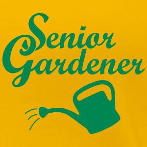 Senior Gardener with Watering Can