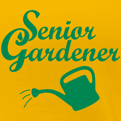 Senior Gardener with Watering Can