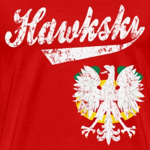 Hawkski Chicago Polish T-Shirts - Men's Premium T-Shirt