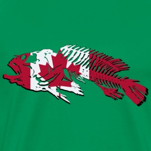 Fish - Canada Flag T-Shirts - Men's Premium T-Shirt