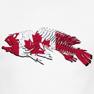 Fish - Canada Flag T-Shirts - Men's Ringer T-Shirt