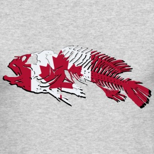 Fish - Canada Flag Long Sleeve Shirts - Men's Long Sleeve T-Shirt by Next Level