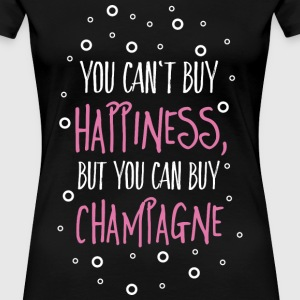 Cant buy happiness, but champagne Women's T-Shirts - Women's Premium T-Shirt