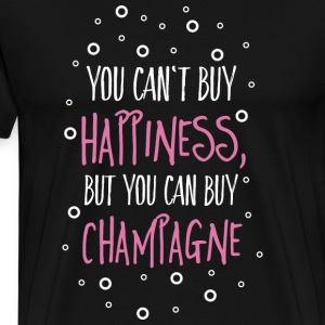 Cant buy happiness, but champagne T-Shirts - Men's Premium T-Shirt