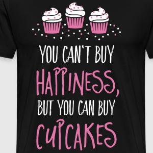 Cant buy happiness, but cupcakes T-Shirts - Men's Premium T-Shirt