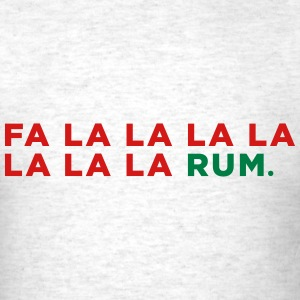 Funny Rum Christmas Song - Men's T-Shirt