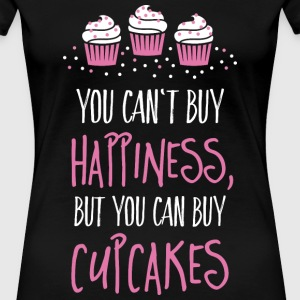 Cant buy happiness, but cupcakes Women's T-Shirts - Women's Premium T-Shirt