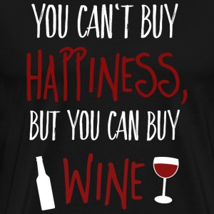 Cant buy happiness, but wine T-Shirts - Men's Premium T-Shirt