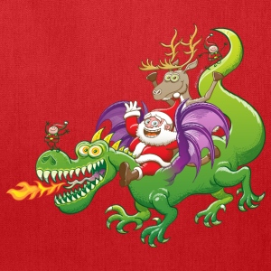 Santa Claus Changed his Reindeer for a Dragon Bags & backpacks - Tote Bag