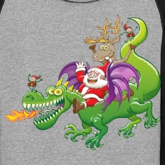 Santa Claus Changed his Reindeer for a Dragon Hoodies
