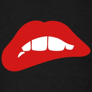 Biting Red Lips T-Shirts - Men's T-Shirt