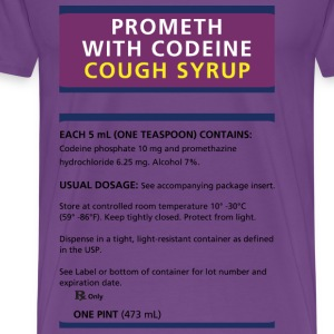 prometh-codeine-label-rep T-Shirts - Men's Premium T-Shirt
