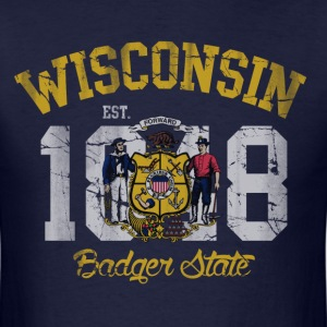 Wisconsin Badger State T-Shirts - Men's T-Shirt