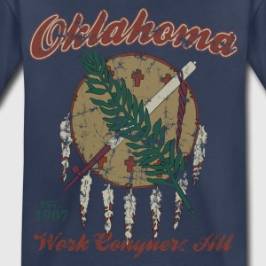 Vintage Oklahoma Work Conquers All Baby & Toddler Shirts - Toddler Premium T-Shirt