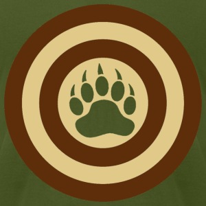 Bear Pride Super Hero Shield Bear Paw - Men's T-Shirt by American Apparel