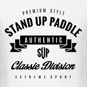 Stand Up Paddle Extreme Sport Black Art - Men's T-Shirt