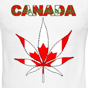 CANADA HEMP LEAF FLAG - Men's Ringer T-Shirt