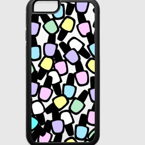 iPhone6/6S Rubber Case-pastel polish on - iPhone 6/6s Rubber Case