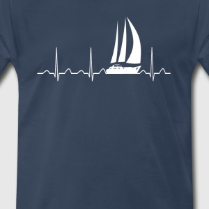 Sailing Heartbeat - Men's Premium T-Shirt