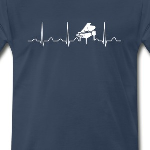 PIANO HEARTBEAT - Men's Premium T-Shirt