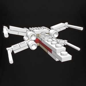 X-Wing Brick Style SHIRT MAN - Kids' Premium T-Shirt