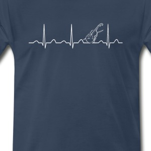 VIOLIN HEARTBEAT - Men's Premium T-Shirt