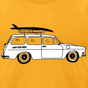 Type 3 Surfer Car T-Shirts - Men's T-Shirt by American Apparel