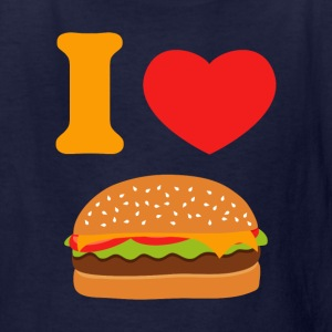 I Love Cheeseburgers Kids' Shirts - Kids' T-Shirt