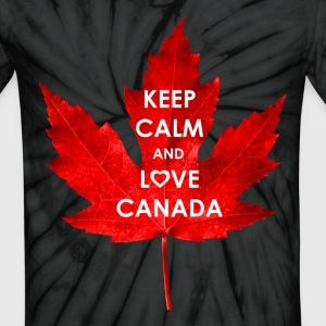 KEEP CALM AND LOVE CANADA - Unisex Tie Dye T-Shirt