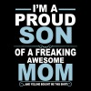 Proud Son Of Awesome Mom  T-Shirts - Men's Premium T-Shirt
