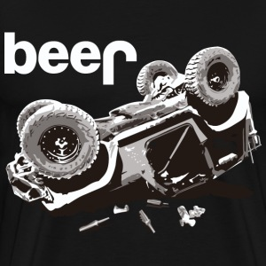 beer jeep Offroad Jeep Bear - Men's Premium T-Shirt